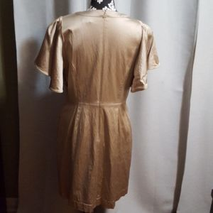 Banana Republic Dresses - Banana Republic Gold Shimmer sz 12 dress